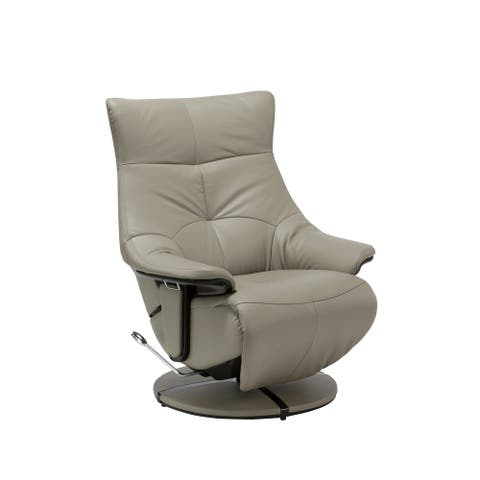 Brisbane Modern Top Grain Leather Ergonomic Manual Recliner