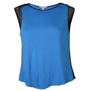 MADE for Impulse Women's Mesh Sides Knit Top - Bright blue