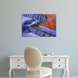 Easy Art Prints Claudia Adams's 'Bond Falls Reflections' Premium Canvas Art