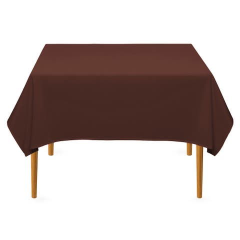 "54 x 54"" Square Premium Tablecloth - Chocolate by Lann's Linens - 54 x 54 inches"