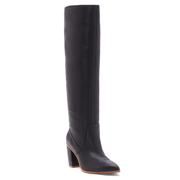 1.STATE Womens PAITON Leather Pointed Toe Knee High Fashion Boots