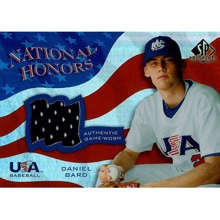 Signed Bard Daniel Daniel Bard 2004 Upper Deck SP Prospects National Honors USA Baseball Unsigned B