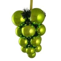 Kiwi Green Shatterproof Christmas Ball Ornament Grape Cluster