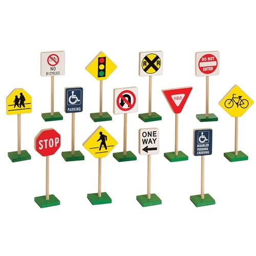 "Miniature Traffic Signs (13 pcs.) (7""H)"