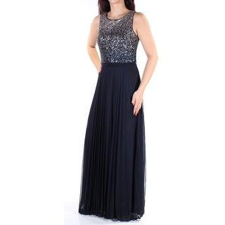 BETSY & ADAM $279 Womens 2518 Navy Sleeveless Full-Length Prom Dress 6 B+B