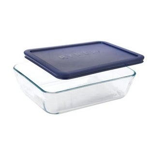 Pyrex 6017396 Rectangular Glass Dish With Lid, 6 Cup