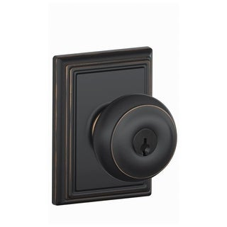 Schlage F51-GEO-ADD Georgian Keyed Entry F51A Panic Proof Door Knob with Addison Rosette (2 options available)