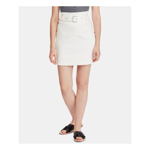 FREE PEOPLE Womens White Mini Pencil Skirt Size 2