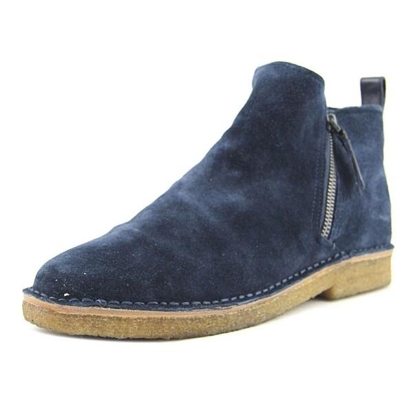 ED Ellen DeGeneres Garison Women Round Toe Suede Blue Ankle Boot