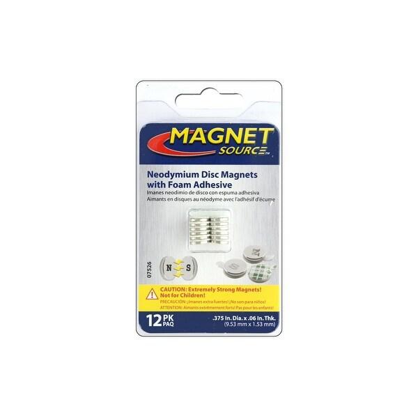 """The Magnet Source Neodymium Magnet ADisc 3/8"""" 12pc"""