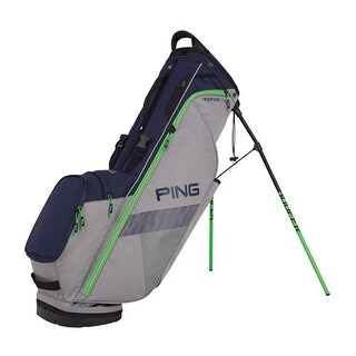 New Ping 2018 Hoofer Lite Golf Stand Bag (Silver / Navy / Green) - silver / navy / green