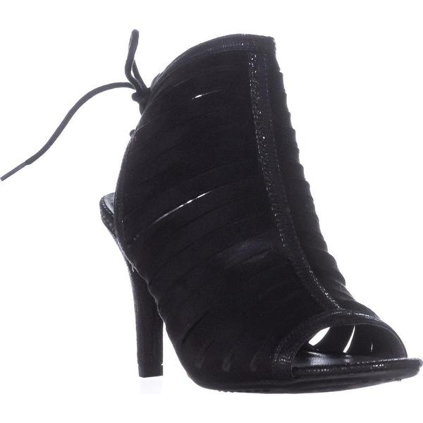 Rialto Rori Lace-Up Evening Sandals, Black