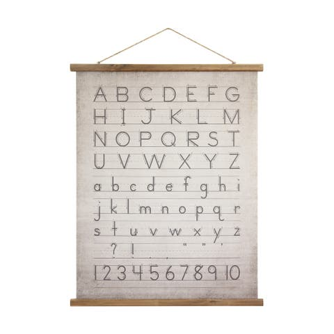 "Alphabet & Numbers Wall Decor - 31"" x 39"""