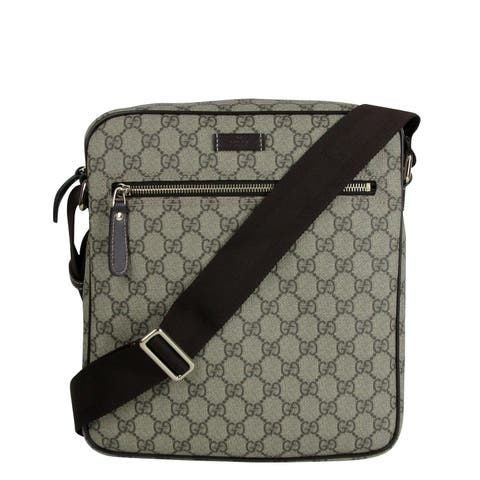 f00c966f08b1 Gucci Men's Shoulder Beige/Ebony GG Coated Canvas Bag 201448 FCIGG 8588 -  One size