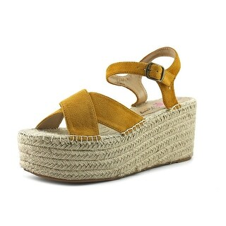 Penny Loves Kenny Friend Women  Open-Toe Suede Tan Espadrille
