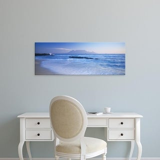 Easy Art Prints Panoramic Images's 'Tide on the beach, Table Mountain, South Africa' Premium Canvas Art