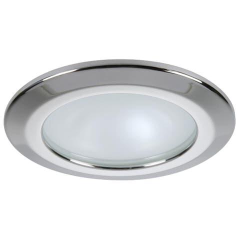 Quick Kor XP Downlight LED - 6W, IP66, Screw Mounted - round stainless bezel, round warm white light