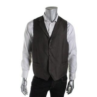 Sean John Mens Pindot Notch Collar Suit Vest - 42S