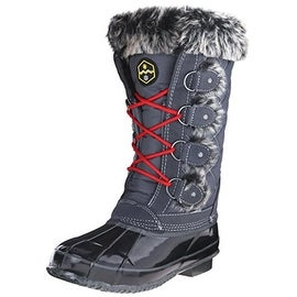Khombu Womens Jandice Leather Faux Fur Snow Boots - 8 medium (b,m)