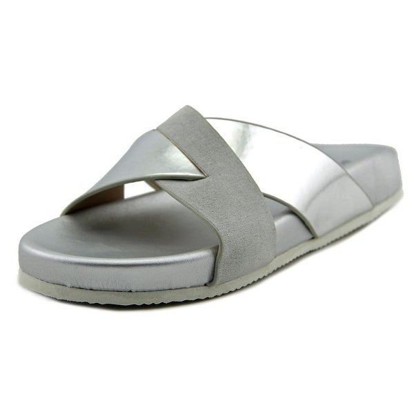 BCBGeneration MNGDB265   Open Toe Canvas  Slides Sandal
