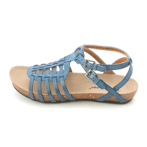 Bare Traps Womens HENDRIX Leather Open Toe Casual Gladiator Sandals