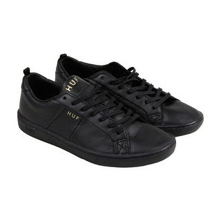 HUF Premium Boyd Mens Black Beige Leather Lace Up Sneakers Shoes