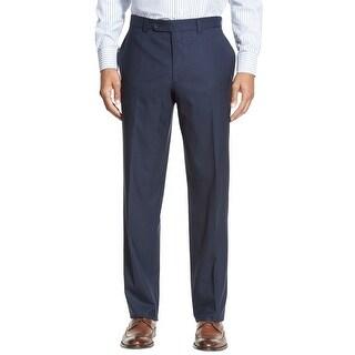 Ralph Lauren RL Neat Flat Front and Hemmed Dress Pants Navy Blue 34x30 - 34