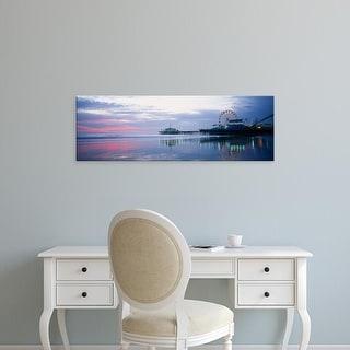 Easy Art Prints Panoramic Image 'Pier with a ferris wheel, Santa Monica Pier, Santa Monica, California' Canvas Art