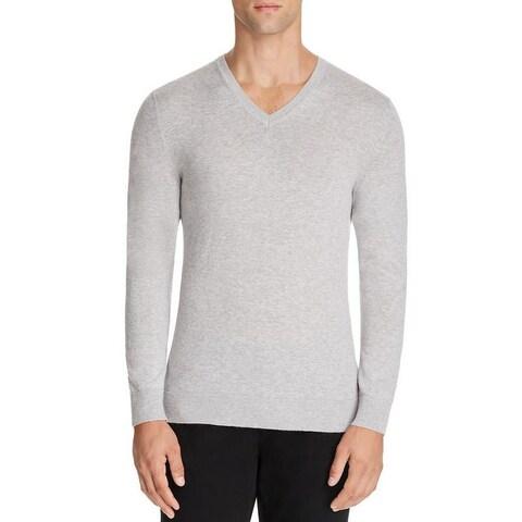Burberry Randolf Gray Cashmere V-neck Sweater