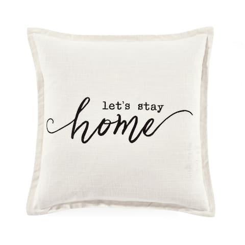 Lush Decor Let's Stay Home Script Decorative Pillow Cover