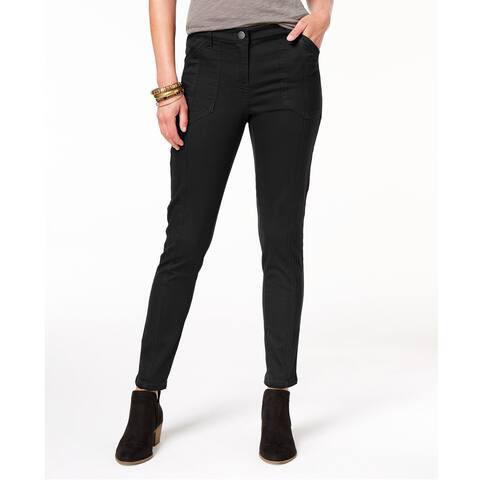 Style & Co Women's Petite Bandit Skinny Pants Deep Black Size 6