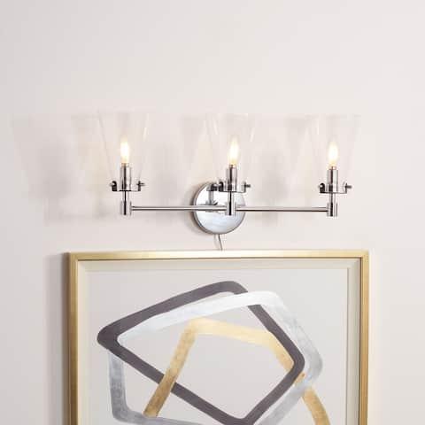 "SAFAVIEH Lighting Lonsen 3-light LED Vanity Sconce - 22.8"" W x 6.9"" L x 9.8"" H"