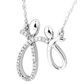 Mother and Child Pendant Sterling Silver 1/10cttw Diamonds With 18inch Necklace(i2/i3, I/j)