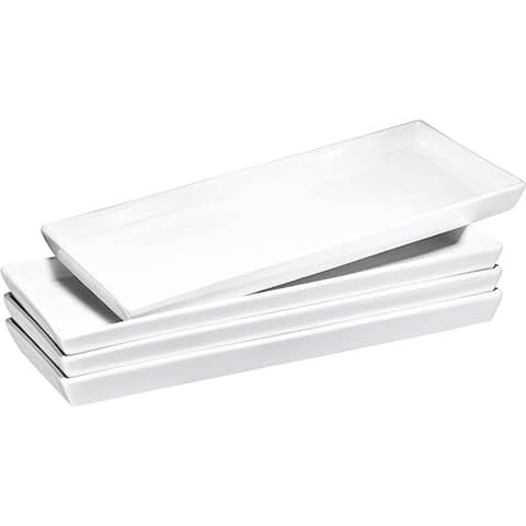 Bruntmor Ceramic Platter Trays  High-Grade Porcelain, Safe for Dishwasher, Microwave, and Freezer