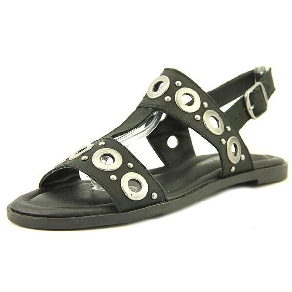 Lucky Brand Ansel2 Women Open-Toe Leather Black Slingback Sandal