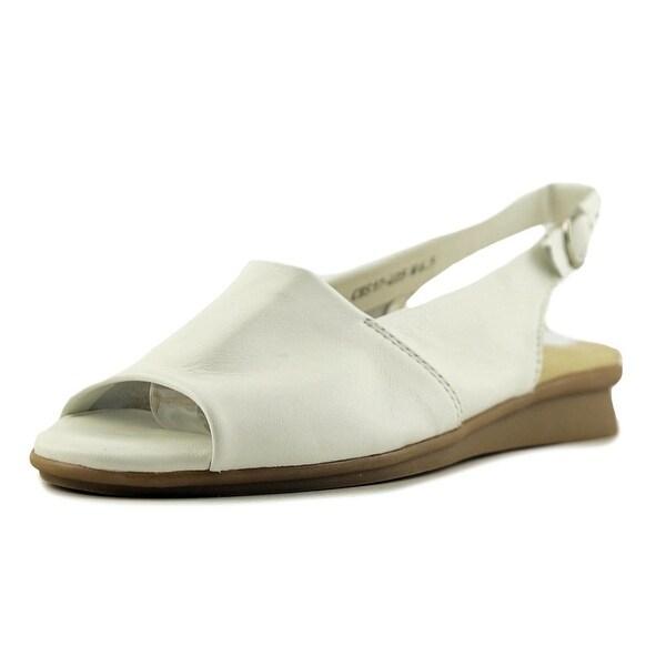 David Tate Norma Women SS Open-Toe Leather White Slingback Sandal