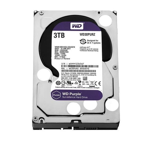 """Wd Purple Wd30purz 3.5"""" 3Tb Hard Disk Drive 5400 Rpm Sata 6Gb/S 64Mb Cache"""