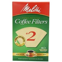 Melitta 612412 Cone Coffee Filters, 40 Count, Natural Brown