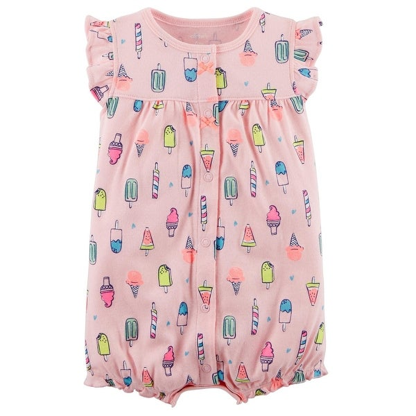d179ef7951b Shop Carter s Baby Girls  Ice Cream Snap-Up Cotton Romper - Free Shipping  On Orders Over  45 - Overstock - 25586635