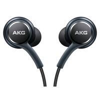 Samsung Earphones by AKG  For Galaxy S8 & S8 Plus W Extra Ear Gels, Grey, Bulk