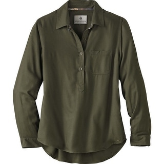 Legendary Whitetails Ladies Sherwood Slouchy Popover Shirt - Army