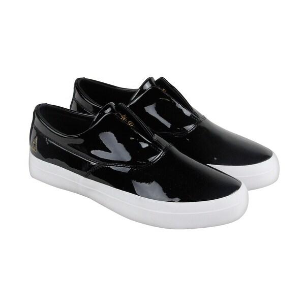 893fcf06cf Shop HUF Dylan Slip On Mens Black Patent Leather Slip On Sneakers ...