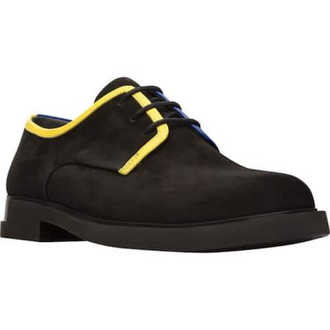 Camper Women's Twins Oxford Black Smooth Leather
