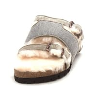 Luxe Co. Mens coolio Slip On Open Toe Slides - 9