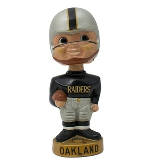 Vintage 1960s Oakland Raiders Gold Base Bobble Head Nodder