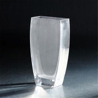 Diamond Star 64120 10 x 3 x 5 in. Tapered Rectangular Vase Clear