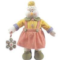 "20"" Glittery Pastel Plush Christmas Candy Snowgirl"