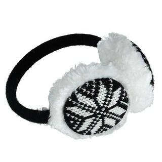CTM® Women's Snowflake Earmuffs - One size