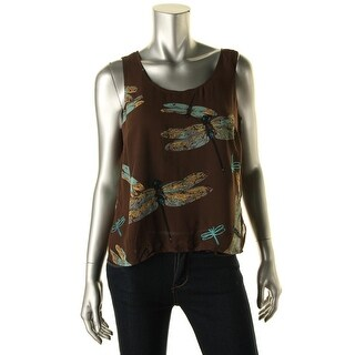 CeCe by Cynthia Steffe Womens Chiffon Printed Casual Top - S