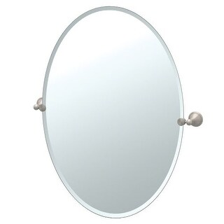 Gatco 4599LG Laurel Ave. Large Oval Beveled Tilting Wall Mirror